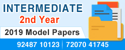 Intermediate - 2nd year 2019 Model Papers